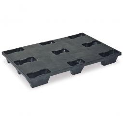 Leichtpalette im Euromaß, LxBxH 1200x800x140 mm, geschlossene Deckfläche, schwarz