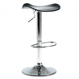 Bar- und Tresenhocker, Sitzhöhe 640-840 mm, Farbe schwarz, belastbar bis 110 kg, Sitz um 360° drehbar