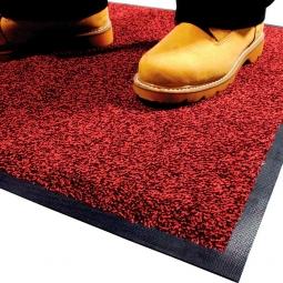 Eingangsmatte, LxB 1500x850 mm, rot, Höhe 9 mm, Mattenrücken aus Nitril-Gummi, waschbar