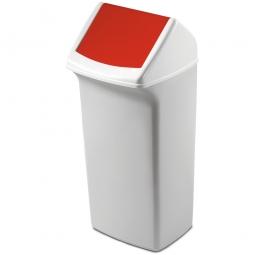 Abfall- und Wertstoffsammler mit Schwingdeckel, BxTxH 366 x 320 x 747 mm, 40 Liter, rot