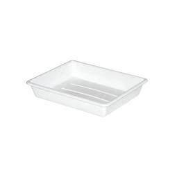 Kunststoffschale, PP, LxBxH 225/190 x 175/140 x 42 mm, 0,4 Liter, weiß