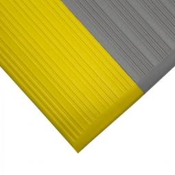 Bodenmatte, mit Rillenoberfläche, schwarz/gelb, LxB 1500x900 mm, Stärke 9 mm, Vinyl-Schaum-Belag