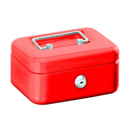 Geldkassette, rot, BxTxH 250x170x75 mm