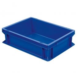 Euro-Geschirrkasten, LxBxH 400x300x120 mm, mit 2 Griffleisten, blau