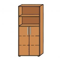 Büro-Kombischrank, 5OH, Buche, HxBxT 1880x800x345 mm