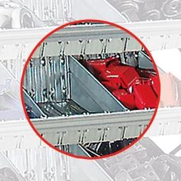 Fachtrennblech für Schüttgut-Regal, 500 mm tief, Oberfläche glanzverzinkt