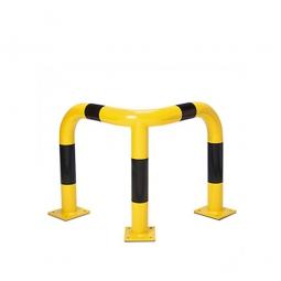 Eck-Schutzbügel, HxBxT 600 x 600 x 600 mm, Hoch belastbarer Schutzbügel aus Gütestahl für den Außeneinsatz