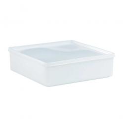 Vorratsbehälter mit dichtschließendem Deckel, 2 Liter, LxBxH 208 x 208 x 64 mm
