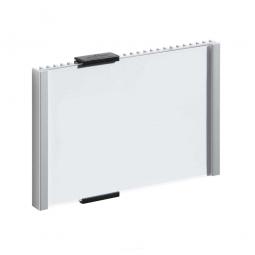 Türschild, BxH 153x110 mm, metallic-silber, Einsteckschild BxH 149x105,5 mm