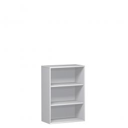 Büroregal PRO, 3 Ordnerhöhen, Weiß, BxTxH 1200x425x1152 mm