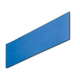 Magnetschilder, VE = 50 Stück, blau, Zuschnitt BxH 100 x 40 mm, Materialstärke: 0,9 mm