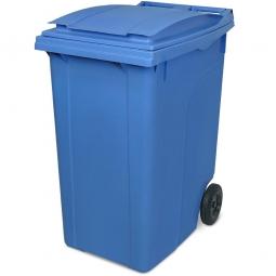 Müllbehälter, 360 Liter, blau, BxTxH 600 x 875 x 1100 mm, Polyethylen (PE-HD)