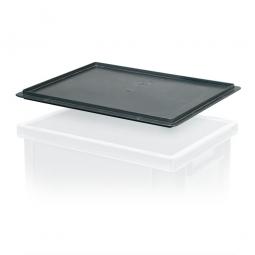 Auflagedeckel für leitfähige Stapelbehälter, LxB 400 x 300 mm, schwarz