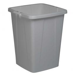 Abfall- und Wertstoffbehälter, eckig, 90 Liter, BxTxH 520x490x610 mm, grau