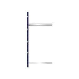 Kragarm-Anbauregal, leichte Ausführung, einseitige Nutzung, BxTxH 1060 x 500 x 2480 mm, Gesamttragkraft 875 kg
