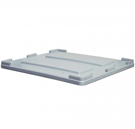 Stapeldeckel für Großboxen, 1200x1000 mm, grau