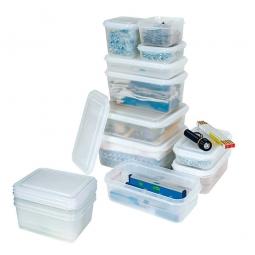 Transparente Aufbewahrungsbox mit Deckel, LxBxH 176 x 162 x 100 mm, 1,7 Liter