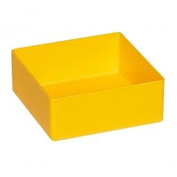 Einsatzkasten für Schubladen, gelb, LxBxH 99x99x40 mm, Polystyrol-Kunststoff (PS)