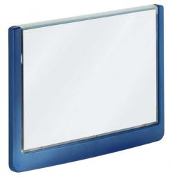 Türschild aus ABS-Kunststoff mit aufklappbarem Sichtfenster, BxH 149 x 105,5 mm, dunkelblau