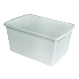 Kunststoffwanne mit umlaufendem U-Rand, 60 Liter, LxBxH 650 x 430 x 330 mm, weiß