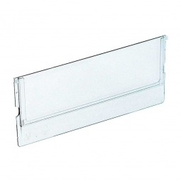 Querteiler für Klarsicht-Regalkästen B 91 mm, transparent, VE=10 Stück