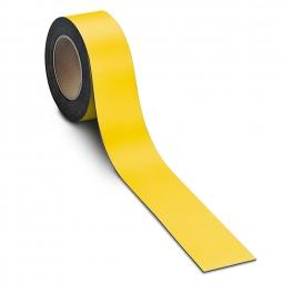 Magnetschilder, 10 m Rolle, Höhe: 50 mm, gelb, Materialstärke: 0,9 mm, für alle magnetischen Untergründe