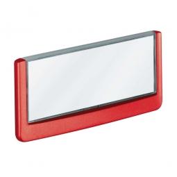 Türschild aus ABS-Kunststoff mit aufklappbarem Sichtfenster, BxH 149 x 52,5 mm, rot