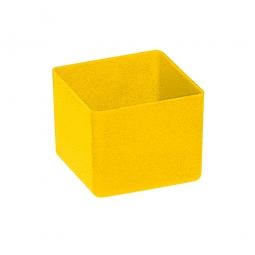 Einsatzkasten für Schubladen, gelb, LxBxH 49x49x40 mm, Polystyrol-Kunststoff (PS)