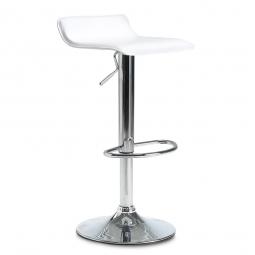 Bar- und Tresenhocker, Sitzhöhe 660 - 860 mm, Farbe weiß, belastbar bis 110 kg, Sitz um 360° drehbar