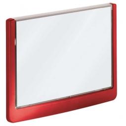 Türschild aus ABS-Kunststoff mit aufklappbarem Sichtfenster, BxH 149 x 105,5 mm, rot