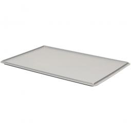 Auflagedeckel für Euro-Stapelbehälter, LxB 600x400 mm, grau