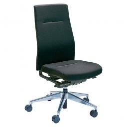 Bürodrehstuhl, Synchronmechanik, Polster schwarz