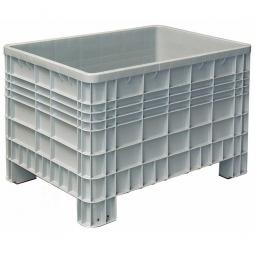 Palettenbox mit Außenrippen und 4 Füßen, Außenmaße LxBxH 1200 x 800 x 800 mm, grau