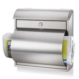Briefkasten mit Zylinderschloss, HxBxT 370 x 360 x 100/190 mm, Edelstahl