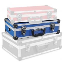 Alu-Rahmenkoffer Größe L, blau LxBxH 430 x 290 x 120 mm, abschließbar, stabil und temperaturbeständig