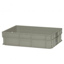 Eurobehälter mit 2 Durchfassgriffe, LxBxH 600 x 400 x 150 mm, 28 Liter, kieselgrau