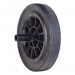 Gummirad für MGB 60, 80, 120, 240 u. 360 Liter, Rad-ØxB 200x50 mm, Tragkraft 205 kg, schwarz