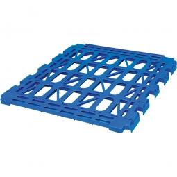 Kunststoff-Zwischenboden, Zubehör für den Rollwagen 3-seitig, blau