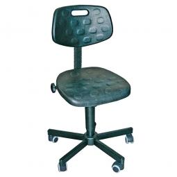 Arbeitsdrehstuhl, Sitz- u. Rückenlehne aus Polyurethanschaum