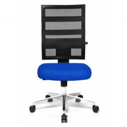 Drehsessel X-Pander, Sitz blau, Netzrücken schwarz, Sitz HxBxT 410-530x480x480 mm, Rückenlehnenhöhe 600 mm