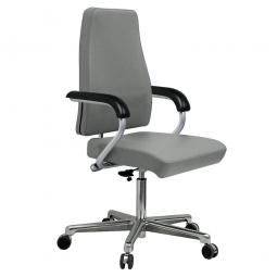 """Chefsessel """"XXL"""", belastbar bis 200 kg, steingrau, Sitzhöhe 450-650 mm, Sitzbreite 600 mm, Sitztiefe 470 mm"""