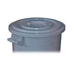 Deckel für Rundtonne 50 Liter, grau