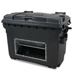Streugutbehälter, Inhalt 660 Liter, anthrazitgrau, Mit Entnahmeöffnung, BxTxH 1360 x 765 x 1000 mm