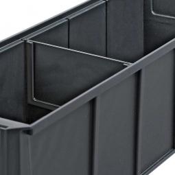 Querteiler für Regalkästen PROFI B 183 mm, ESD schwarz, VE=10 Stück
