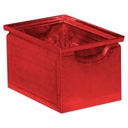 Stapelkasten aus Stahlblech, 3,6 Liter, LxBxH 200 x 140 x 130 mm, rot