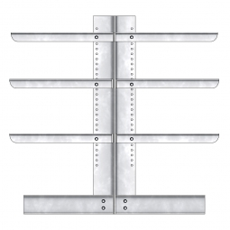 Kragarmregal, doppelseitige Ausführung, BxTxH 2210 x 2x600 x 2000 mm, Gesamt-Tragkraft 2640 kg