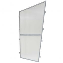 1x transparente Polyester-Seitenwand, links und rechts verwendbar, für universelle Überdachung TxH 2330 x 2250 mm