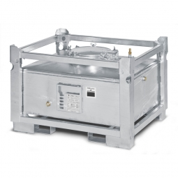 ASF-Behälter, doppelwandig, 445 Liter, LxBxH 1230 x 1030 x 840 mm, Gewicht 235 kg