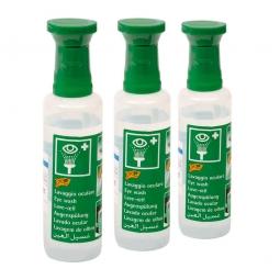 Augenspüllösung, Inhalt 500 ml, Natriumchloridlösung 0,9%, mit Augenaufsatz, VE=3 Flaschen