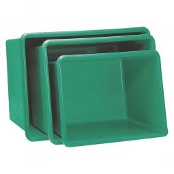 Rechteckbehälter aus GFK, Inhalt 700 Liter, grün, LxBxH 1320 x 970 x 810 mm, Gewicht 23 kg